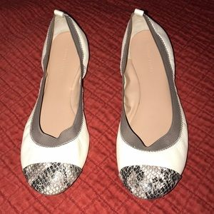 Banana Republic Gray & Ivory Ballet Shoes Size 9.5